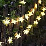 Solar String Light Outdoor, 8m 60 LED Solar Star String Lights Waterproof, 8 Modes Solar Powered Fairy Lights, Indoor/Outdoor