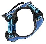 SwissPet Hundegeschirr Brustgeschirr Powergeschirr, Blau, Geschirr für Hunde, reflektierend, verstellbar, mit Haltegriff