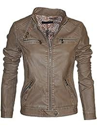 5558 Leichte Sommer Damen Lederjacke Jacke in 6 Farben Vegan Leder