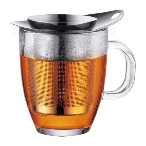 Bodum-Caffettiera-Caffettiera a pistone tazze, Vetro, Argento, trasparente, 35 cl