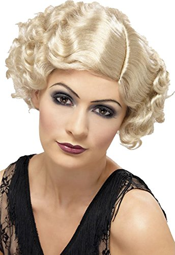 Erwachsene Kurzer Schnitt 1920's razzal Fancy Kleid Party Flirty Flapper Perücke sortiert Gr. Einheitsgröße, beige (blonde) (1920er Jahre Perücke)
