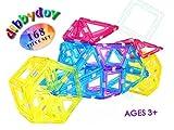 Happy Kids Didaktik Magnet Spielzeug - Bausatz mit 168 magnetischen Teilen zum Zusammenbauen - Bauklötze - Elite Edition - f. Kinder - Zuhause Kindergarten Schule Urlaub - tolles Geburtstagsgeschenk
