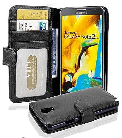 Cadorabo - Book Style Hülle für Samsung Galaxy NOTE 3 NEO (N9006) - Case Cover Schutzhülle Etui mit 3 Kartenfächern in