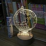 Uncle Sam LI-Moderne minimalistische kreative Nachtlicht Globen Holzbasis LED 3D Tischleuchte