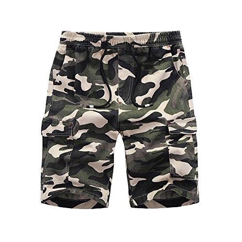 WDDGPZDK Strand Shorts/Shorts Men Hochwertige Männer Sommer Designer Fashion Hosen Kurze Hosen Von Mehrfachblöcken 1120, Army Green, XXXL