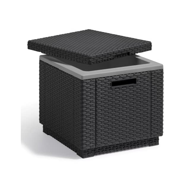 Allibert Tabouret cube avec coussin, gris - www.daidoamistar.com.my