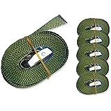 Iapyx - Lote de 6 correas tensoras (250 kg, cierre de apriete rápido)