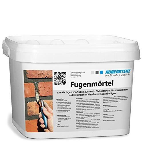 Ruberstein® Fugenmörtel hellgrau im 5 kg Eimer