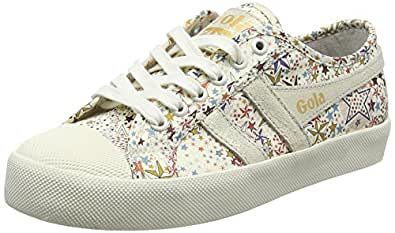 Gola Damen Coaster Liberty AD Off White Sneaker, Elfenbein (Off White Powder), 36 EU