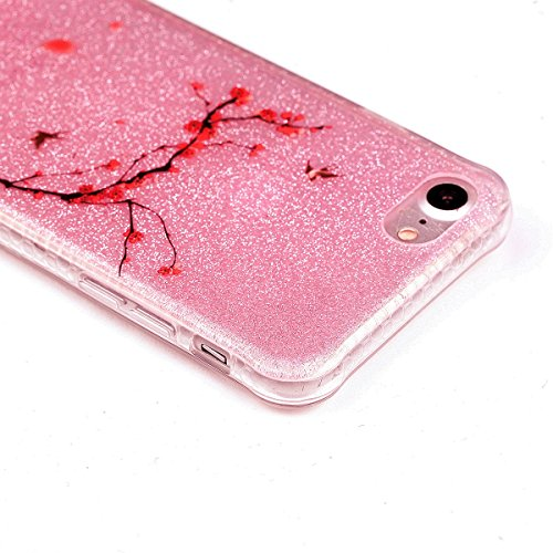 iPhone 8 Hülle, Voguecase Silikon Schutzhülle / Case / Cover / Hülle / TPU Gel Skin für Apple iPhone 8 4.7(Rot Fuchs 02) + Gratis Universal Eingabestift Pflaumen 14