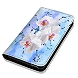 Hülle Galaxy S7 Hülle Samsung S7 G930F Schutzhülle Handyhülle Flip Cover Case Samsung Galaxy S7 G930F (OM1112 Orchidee Blume Pink Rosa Blau)