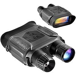 Visión nocturna binocular, alcance infrarrojo de la visión nocturna digital - 640x480p Cámara y videocámara HD IR de la fotografía Ven claramente hasta 400m / 1300ft, aumento 7x en la oscuridad, panta