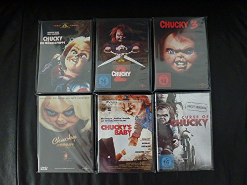 6er CHUCKY Collection DIE MÖRDERPUPPE Teil 1 2 3 + CHUCKYs BRAUT + CHUCKYs BABY + CHUCKYs FLUCH DVD Limited Edition (Katherine Heigl-filme Dvd)