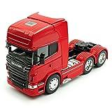 Welly Scania R-Serie R730 V8 3 Achsen Rot Ab 2005 Zugfahrzeug LKW Truck 1/32 Modell Auto mit individiuellem Wunschkennzeichen