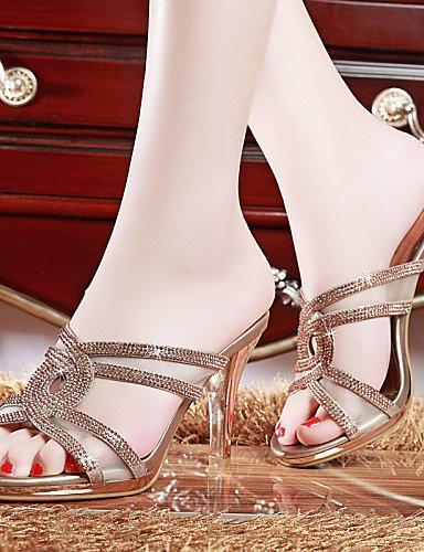 UWSZZ IL Sandali eleganti comfort Scarpe Donna-Sandali-Ufficio e lavoro / Formale / Serata e festa-Spuntate-A stiletto-Finta pelle-Argento / Dorato Silver
