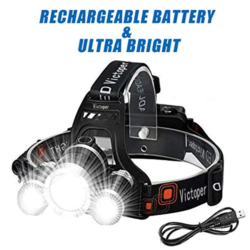 51FVnc17ZEL - Wesho LED Rechargeable Head Torch with 4 Modes, 6000 Lumen Super Bright LED