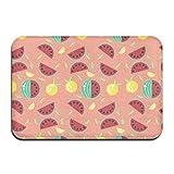 dewdferf Non-Slip Doormat Watermelon Lemon Durable Mats rug Bathroom Bedroom Floor Carpet