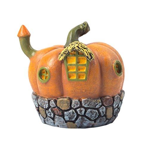 Moss Bonsai (MagiDeal Mini Resin Haus Mit Licht Moss Micro Landschaft Garten DIY Dekoration - 2 # Kürbishüt)