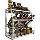 Support à ustensiles pour étagère à condiments pour étagère à épices pour étagère de cuisine, étagère de cuisine, organisateur de paquets, pour bocal à épices, avec bouteille et plus, debout sur 3 n