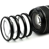 CELLONIC® 4X Primer Plano Filtros Macro para Canon EF 50mm 1:1.8 STM, EF-S 35mm 1:2.8 Macro IS STM, EF-M 15-45mm 1:3.5-6.3 IS STM (Ø 49mm) Filtros Close-Up