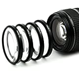 4X Filtres de Gros Plan Macro Filtre Compatible avec Panasonic Lumix G Vario 14-140 3.5-5.6 35-100 2.8 12-35 2.8 (Ø 58mm) Filtre Close-Up