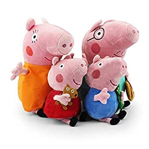 Toppeppa cochon peluche famille 4pcs set cochon papa mama de 30cm et 19cm george peppa pig comme - Jeux de papa pig ...