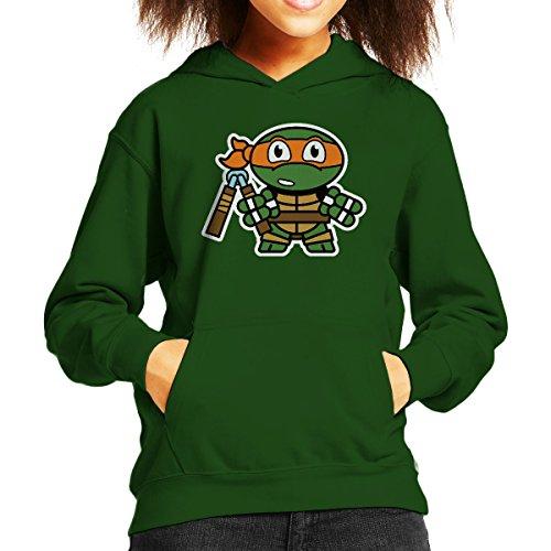 Mitesized Michelangelo Teenage Mutant Ninja Turtles Kid's Hooded (Für Mutant Turtles Jungen Teenage Kapuzenpullover Ninja)