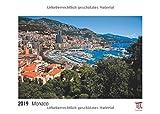 Monaco 2019 - White Edition - Timokrates Wandkalender, Bilderkalender, Fotokalender - DIN A3 (42 x 30 cm) -