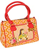 Exotic India Orange Tote Bag from Jaipur...