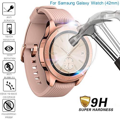 Fcostume 1 Stück gehärtetes Glas Displayschutzfolie für Samsung Galaxy Watch 46/42 MM (42 MM)