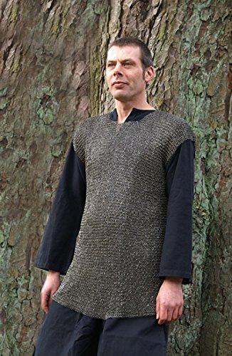 Mittelalterliches Kettenhemd RM Römisches Hilfstruppenhemd, ID6mm, vernietet/gestanzt, Gr. L Schaukampf LARP