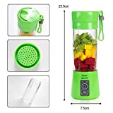 #2: New Portable USB Electric Juicer with Sipper,Blender with Power Bank 2000 Mah - 380Ml Juicer Cup (Multi Colour)