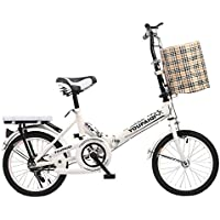 YEARLY Bicicleta plegable carbike,Bicicletas plegable niños Estudiantes 6 a 10 niños con edad-