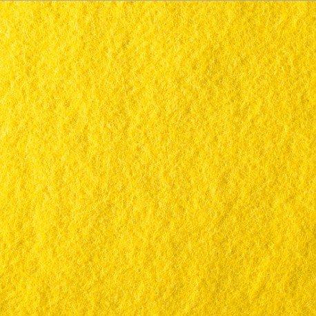 5Stoffstücke, Wollfilz, 20× 30cm, Dick. ~ 1mm, 100% Viskose, 145g/m² gelb