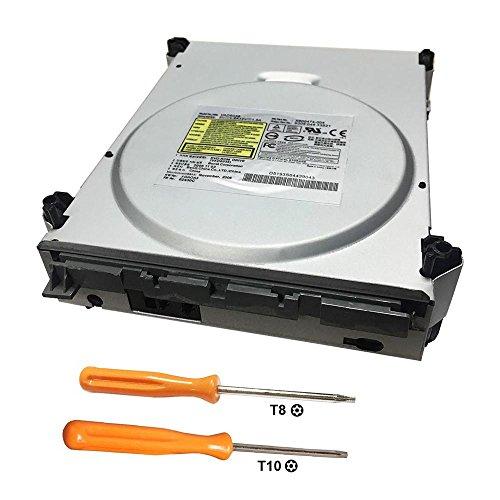 Rinbers DVD ROM Laufwerk Ersatz für Microsoft Xbox 360 Konsole mit T8 T10 Öffnungs-Tool für Philips BenQ VAD6038