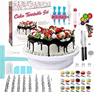 POPOY Cake Decorating Supplies/Baking Supplies 172pcs w/cake rotation turnable stand Frosting, Piping Bags bac