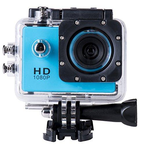 Wasserdicht Sj4000 Auto-kamera (briskym SJ4000Full HD 1080p Kamera 12MP 30m Wasserdicht Action Sport-Kamera DV Auto DVR unterstützt SD bis 32GB, blau)