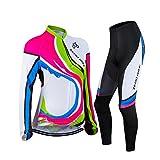 ELEAR Abbigliamento Ciclismo Set Abbigliamento sportivo per bicicletta Outdoor Maglia manica lunga Pantaloni lunghi da donne traspirante