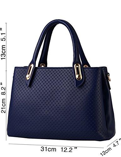 Menschwear Damen Handtasche Marken Handtaschen Elegant Taschen Shopper Reissverschluss Frauen Handtaschen Lila Diamon-Blau