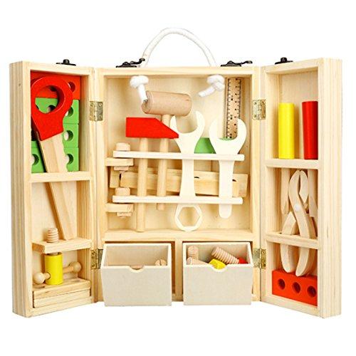 z Reparatur Werkzeug Koffer Set Kinder Werkzeugkasten Rollenspiel Spielzeug Werkzeug Spielzeug Handwerker Kinder Spielzeug für Kinder Jungen und Mädchen ab 3 Jahre ()