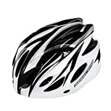 230g de peso ultra ligero -Eco-Friendly Super Light Casco Integral Bike, Casco ligero ajustable Mountain Bike Cascos para hombres y mujeres Niños y niñas adolescentes - Cómodo, ligero, transpirable ( Color : Black and white )