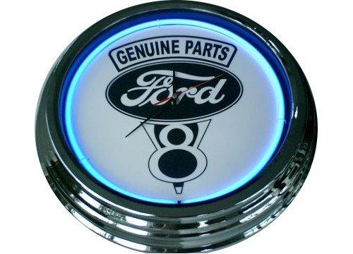 Neonuhr Ford V8 Wanduhr Deko-Uhr Leuchtuhr USA 50's gebraucht kaufen  Wird an jeden Ort in Deutschland