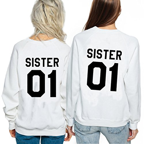 *Best Friends Pullover 2er Set SISTER Partner Sweatshirt*
