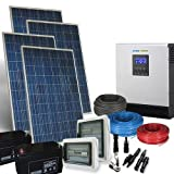 Kit Solaire Maison Plus 1Kw 24V Systeme Photovoltaique Onduleur 2400W Batterie...