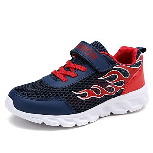 Axcer Scarpe Sportive per Bambini Ragazze e Ragazzi Respirabile Ultraleggero Scarpe da Corsa Basse Outdoor Multisport Calzature da Escursionismo Ginnastica Running Sneakers (38 EU, Blu Navy)