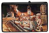 Encendedor De Gasolina Impreso Recargable Caballo tres hombres Poker