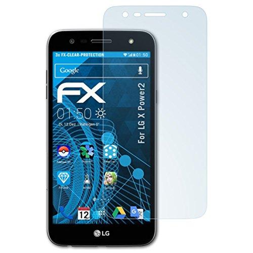 atFolix Schutzfolie kompatibel mit LG X Power2 Folie, ultraklare FX Displayschutzfolie (3X)