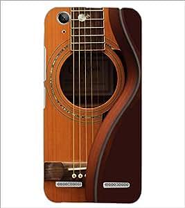 PrintDhaba Guitar strings D-5897 Back Case Cover for LENOVO LEMON 3 (Multi-Coloured)