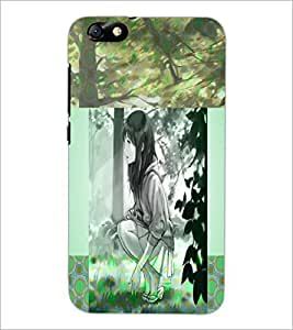PrintDhaba Cute Girl D-4991 Back Case Cover for HUAWEI HONOR 4X (Multi-Coloured)