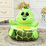 memorecool Kindersofa in besonderen Formen, gelbe Ente Kinder, Plüsch Cartoon Sofa, Baby/Kinderstuhl, Weihnachtsgeschenk, Geburtstagsgeschenk., baumwolle, Grün (Green Turtle), 16